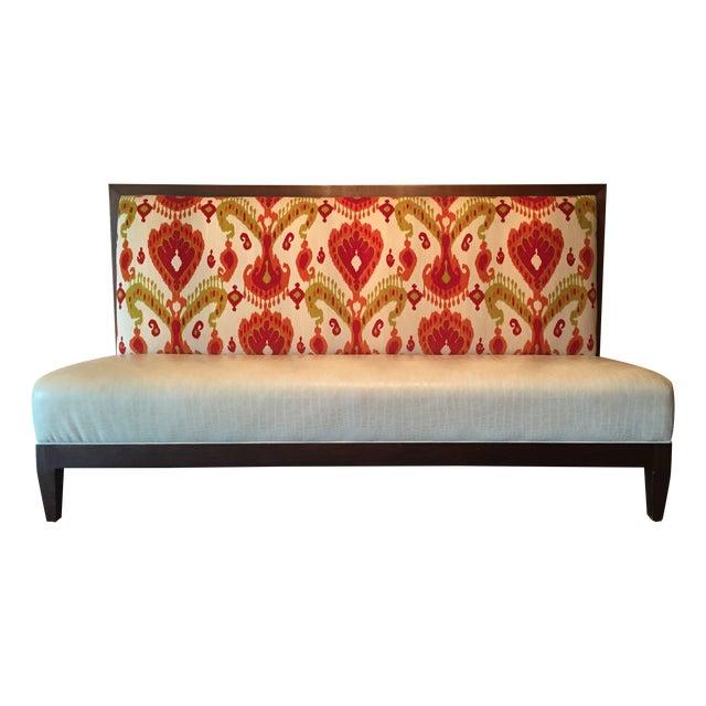 Marvelous Custom Banquette In Velvet Ikat Faux Leather Inzonedesignstudio Interior Chair Design Inzonedesignstudiocom