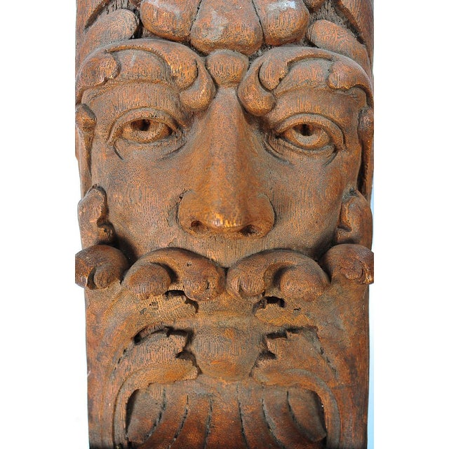 Primitive Terracotta Knights Heads - Set of 6 Corbels For Sale - Image 3 of 8