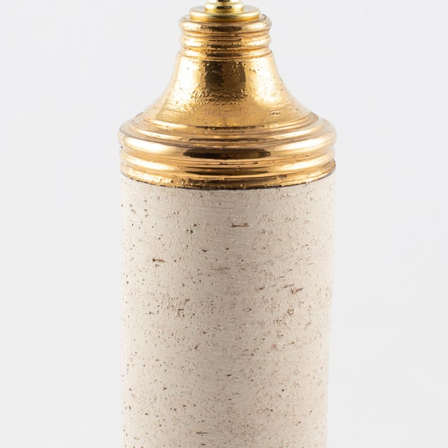 """Mid-Century Modern Bitossi Gold """"Birch"""" Table Lamp for Bergboms, Circa 1960s For Sale - Image 3 of 11"""