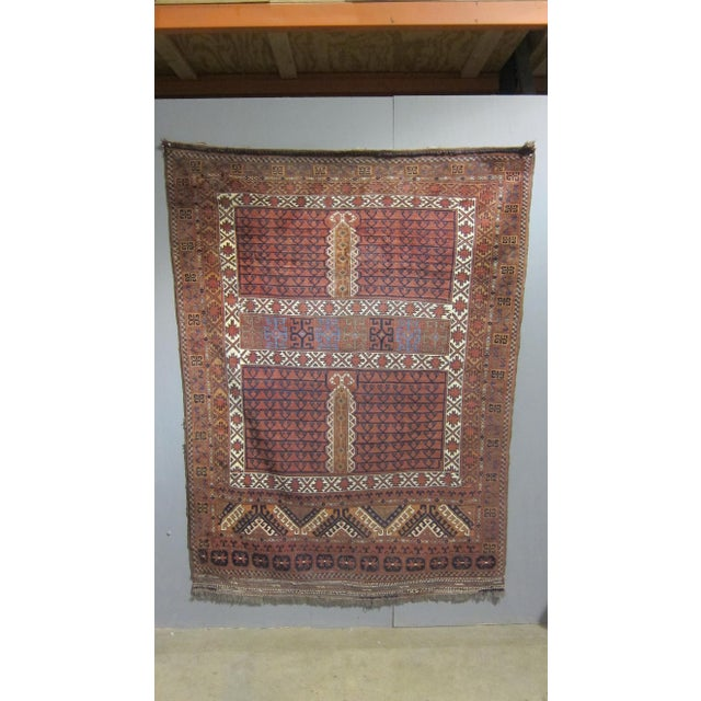 "Vintage Sarreid LTD Tribal Rug - 5' x 6'11"" - Image 2 of 6"