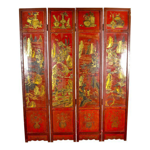 19th Century Chinoiserie Screen For Sale - Image 9 of 9