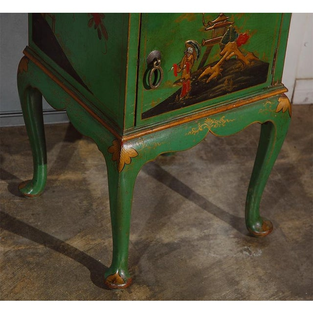 Metal Early 20th Century Chinoiserie Decorated Night Stand For Sale - Image 7 of 7
