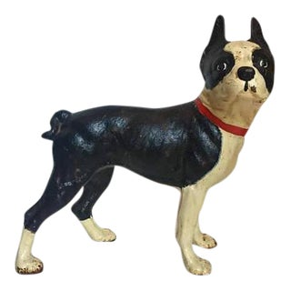 Vintage Modern Boston Terrier Doorstop Statue