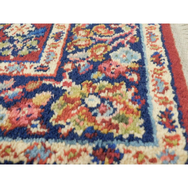 Red Karastan Red Sarouk #785 Rug 5' x 2' Multicolor Area Throw Rug For Sale - Image 8 of 13