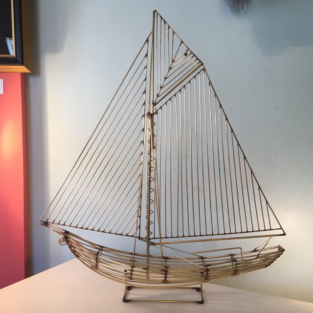 Contemporary Curtis Jere Sailboat Sculpture For Sale - Image 3 of 6
