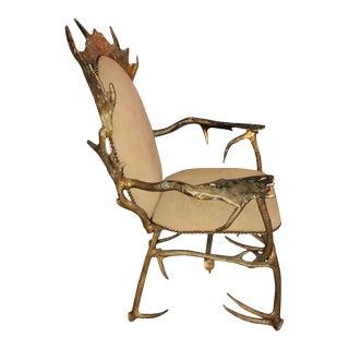 Arthur Court Aluminum Antler Chair, Ca. 1970's For Sale