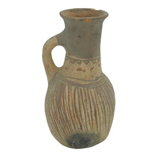 Vintage Terra-Cotta Primitive Moroccan Water Jar For Sale