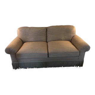 Contemporary Beige Loveseat For Sale