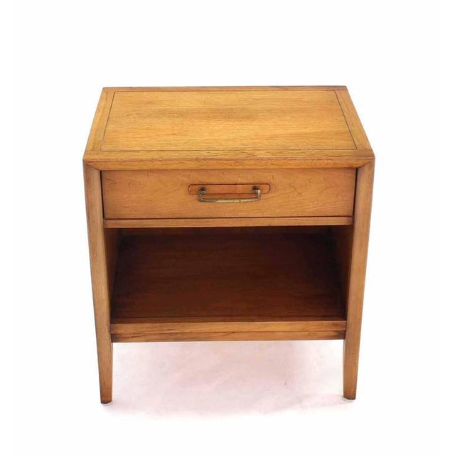 Brown Pair of Mid-Century One Drawer Nightstands by Drexel For Sale - Image 8 of 8