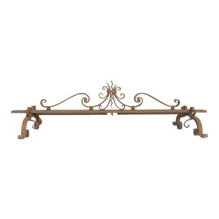 Custom French Iron Fireplace Fender For Sale