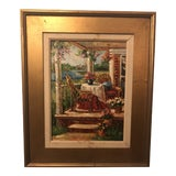 Image of 1980s Oil on Canvas Signed Painting For Sale