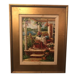 1980s Oil on Canvas Signed Painting For Sale