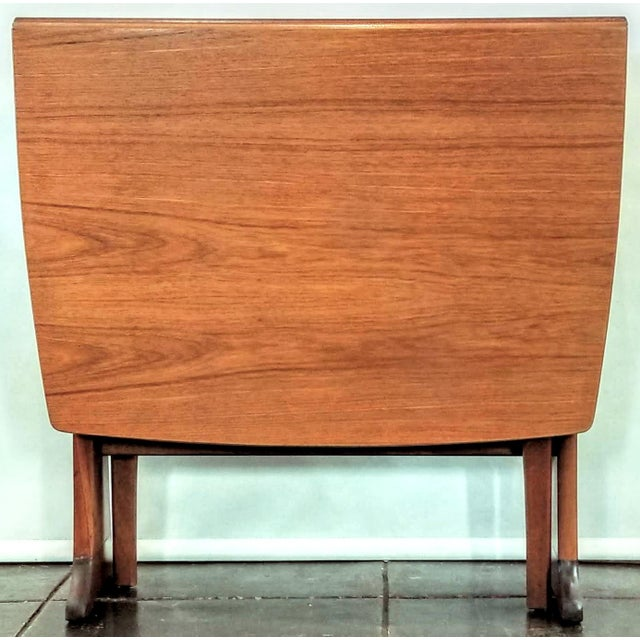 Mid-Century Scottish Modern Style Drop Leaf Table by Legate Scotland For Sale - Image 9 of 11