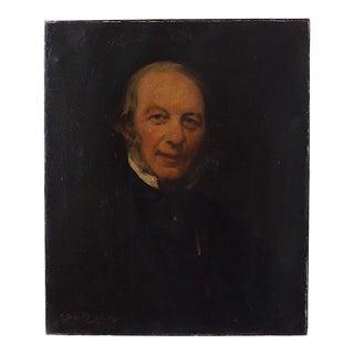 """Antique 19th Century """"Griffin"""" Oil Portrait Painting For Sale"""