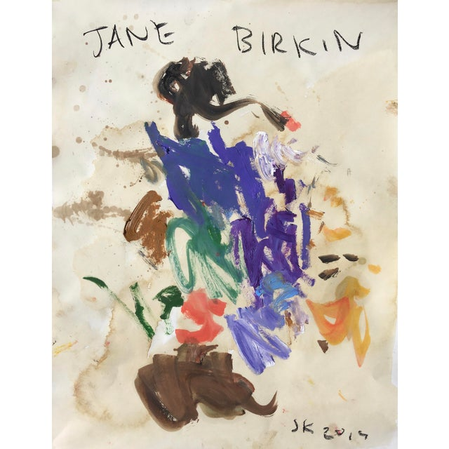 Abstract Abstract Oil Painting by Sean Kratzert, 'Jane Birkin' For Sale - Image 3 of 3