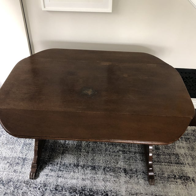 1940s Art Deco Drop Leaf Accent Table For Sale In Los Angeles - Image 6 of 12