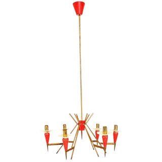 Italian Chandelier Sputnik Style For Sale