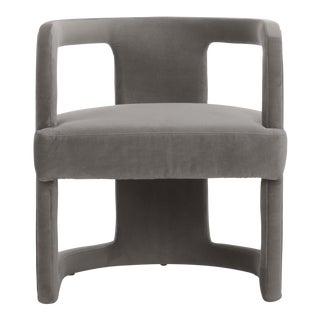 Rory Side Chair in Gray For Sale