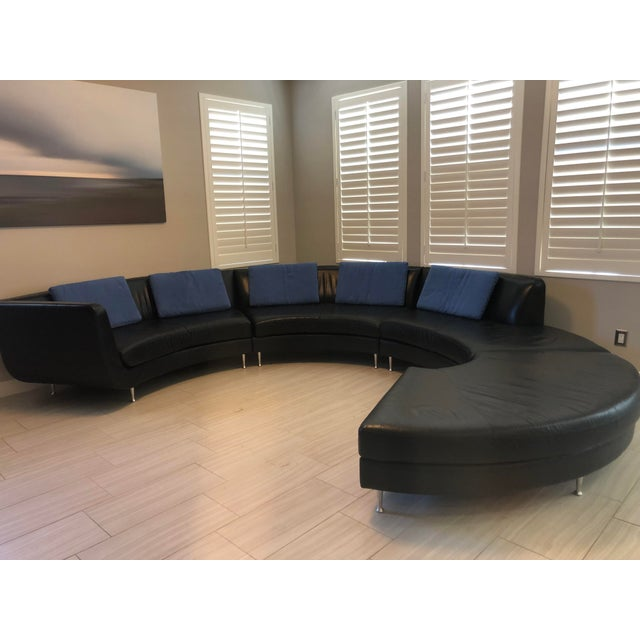 Contemporary American Leather Menlo Park Sectional For Sale - Image 12 of 13