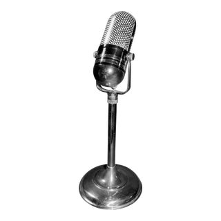 RCA' Style Circa 1950 Broadcast Microphone For Sale