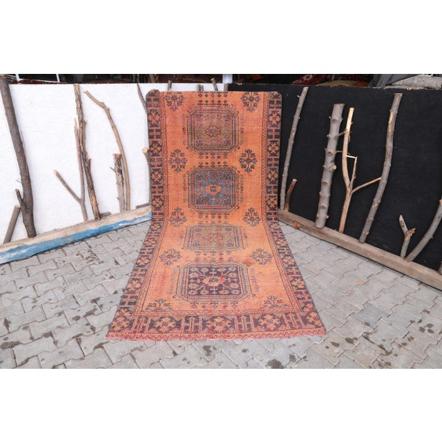 """1960's Vintage Turkish Hand-Knotted Wide Runner Rug - 4'1"""" X 11'5"""" For Sale - Image 10 of 11"""