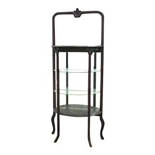 Antique Victorian Mahogany Display Curio Shelf