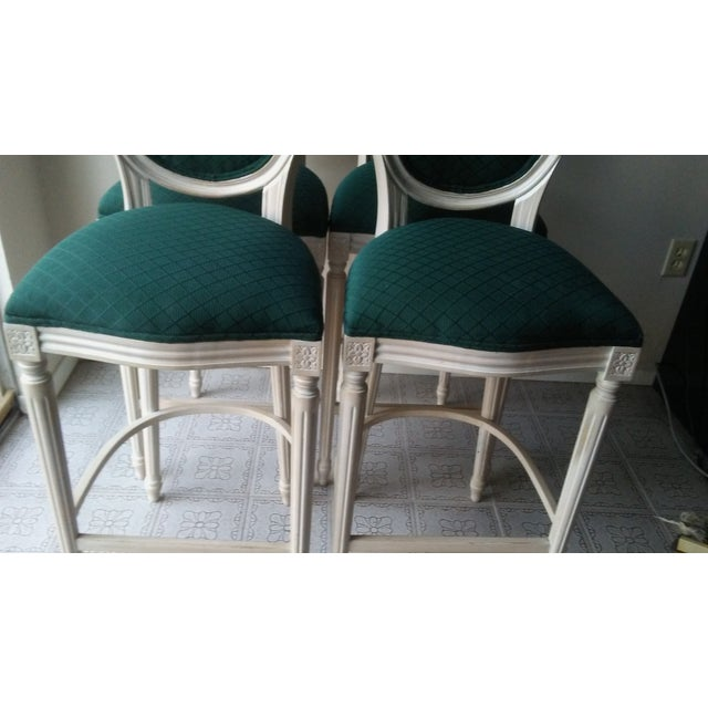 French Louis XVI Style Bar Stools - 4 - Image 4 of 10