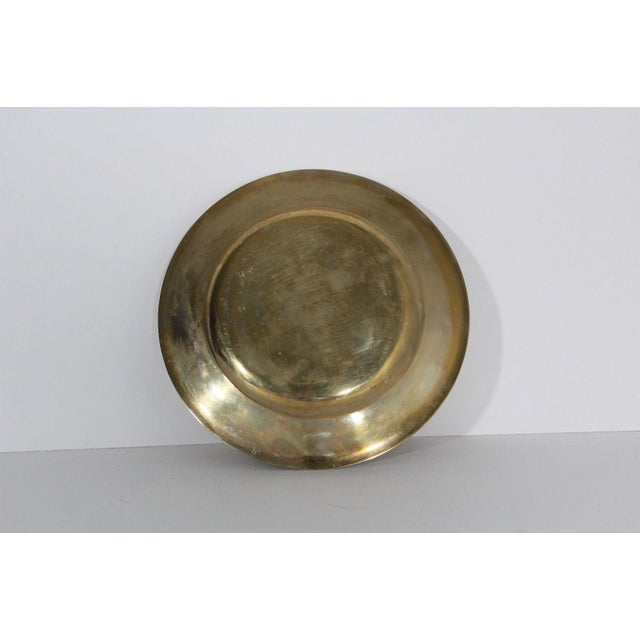 Hollywood Regency 1930s Regal Dirilyte Dirigold Sweden Heavy Gold Plated Charger Plate For Sale - Image 3 of 5