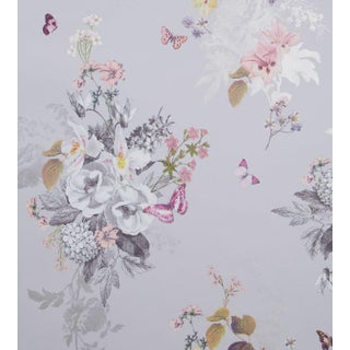 Botanical Bouquet Wallpaper by Clarke & Clarke - Price Per Yard For Sale