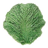 Image of Majolica Cabbage Leaf Platter For Sale