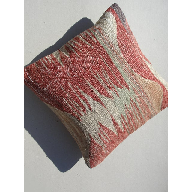 Cotton Kilim Rug Pillow For Sale - Image 7 of 11
