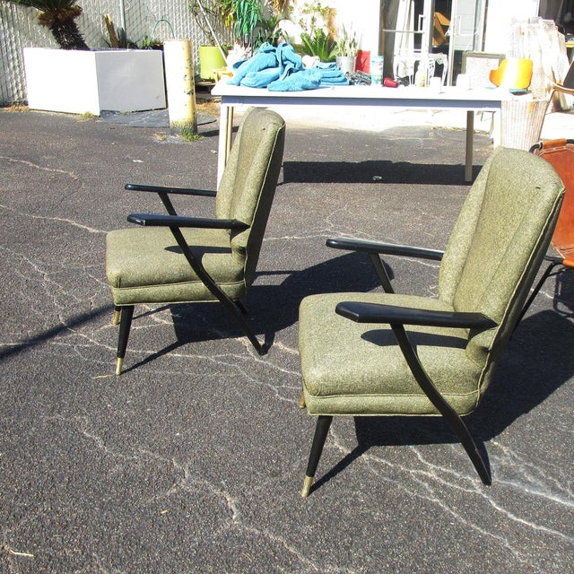 Vintage Mid-Century Pair of Italian Style Lounge Chairs Mr14715 For Sale In Houston - Image 6 of 9