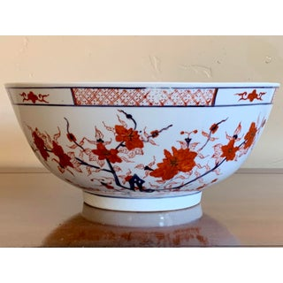 Asian Chinoserie Large Porcelain Bowl Preview