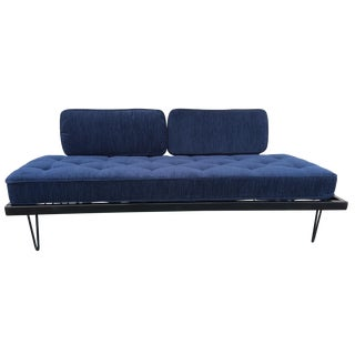 Restored Mid-Century Daybed in Indigo For Sale