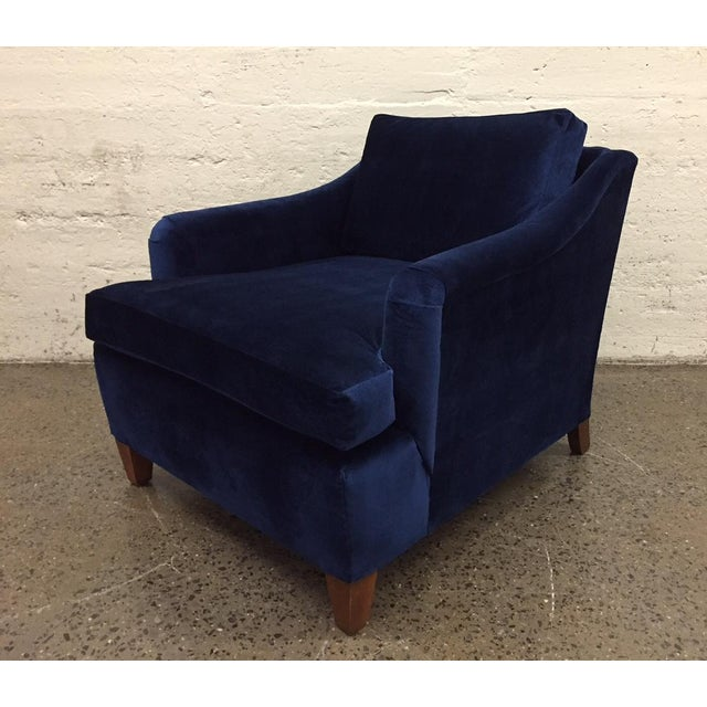 Art Deco Pair of Art Deco Upholstered Lounge Chairs in Mohair For Sale - Image 3 of 8