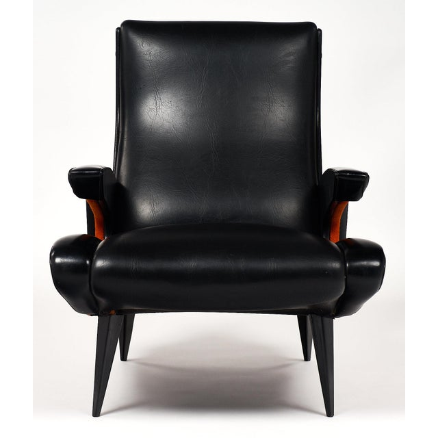 French Mid-Century Armchairs - a pair For Sale - Image 4 of 10