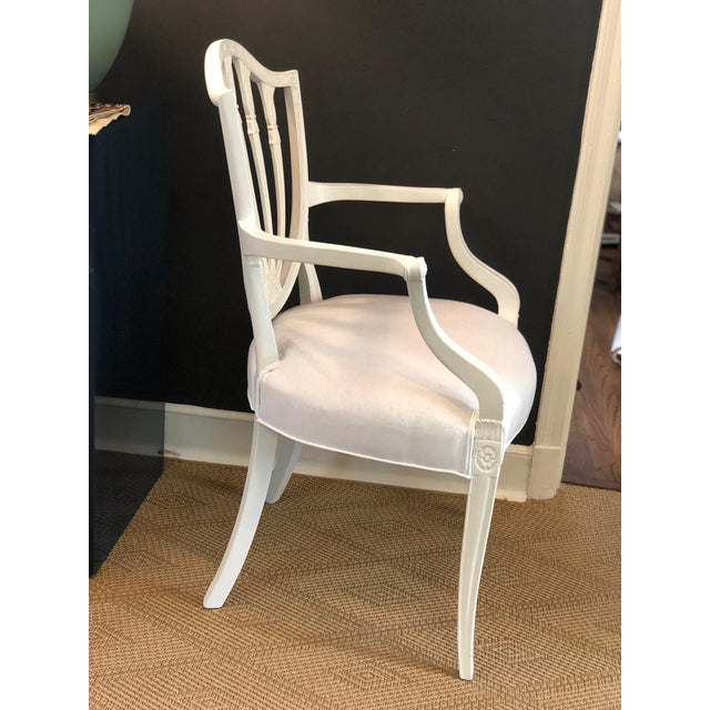 1930s Hepplewhite Shield-Back Chairs — a Pair For Sale - Image 6 of 10