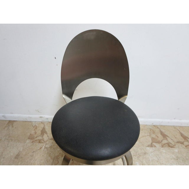 Mid-Century Metal Industrial Stool For Sale - Image 5 of 10