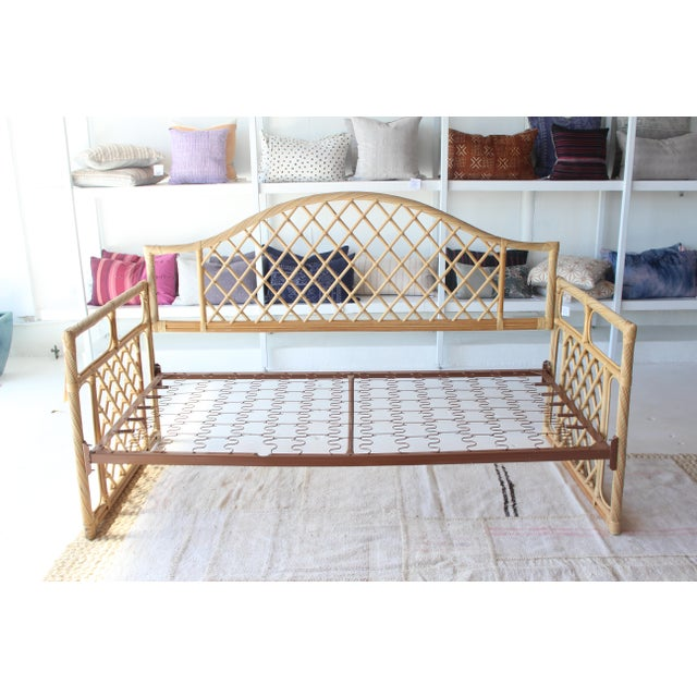 Wood Rattan Daybed Frame For Sale - Image 7 of 11