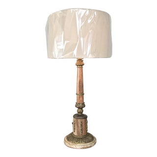 Antique Marble & Bronze Neoclassical Table Lamp For Sale