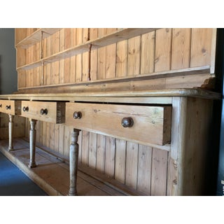 19th Century Country American Breakfront Pine Shelving Unit Preview