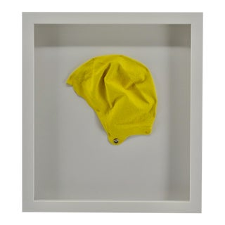 Vintage Womens Swimming Cap, Yellow For Sale
