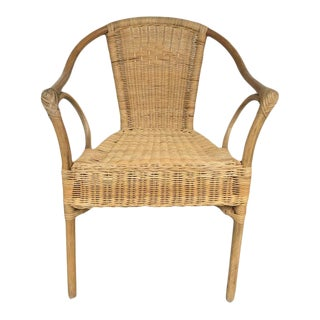 1960's Vintage Rattan Side Chair