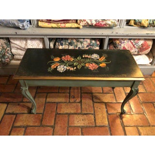1950s Vintage Hand Painted Piano Bench Preview