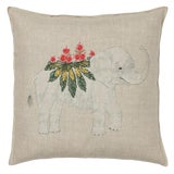 Image of 2010s French Ecru Linen Benevolent Elephant Pillow For Sale