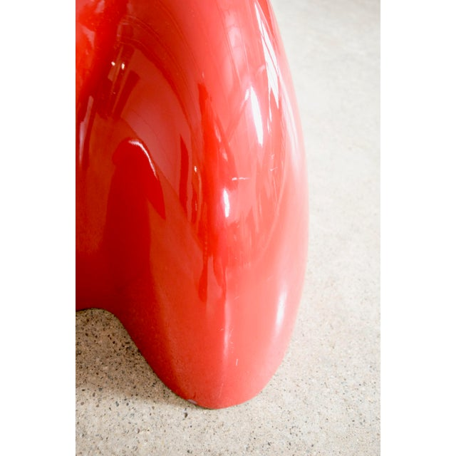 Mid Century Wendell Castle Red Fiberglass Lounge Chair For Sale - Image 10 of 11