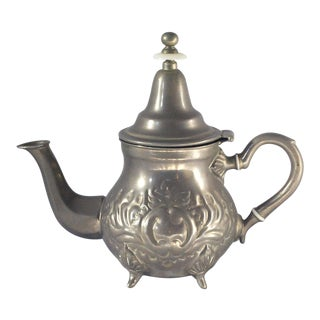 Vintage Boho Chic Moroccan Teapot For Sale