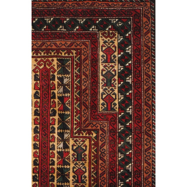 """Pasargad Balouch Collection Red Rug - 2'11"""" X 4'9"""" - Image 2 of 2"""