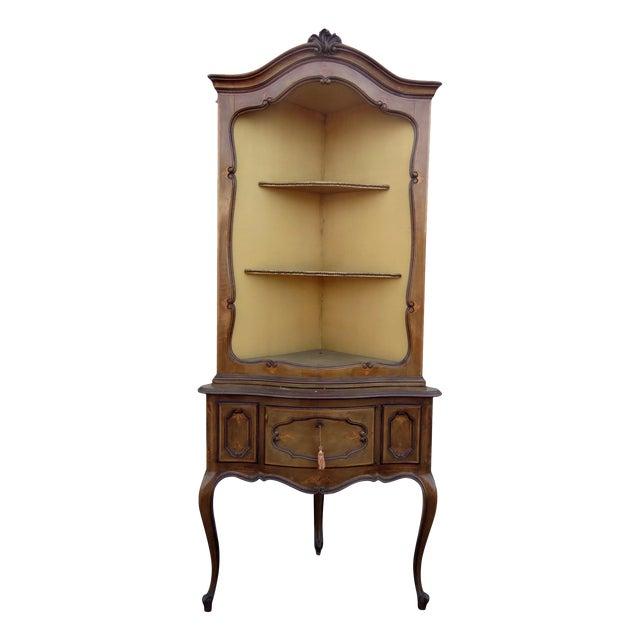 Antique Louis XVI Style Corner Etagere For Sale