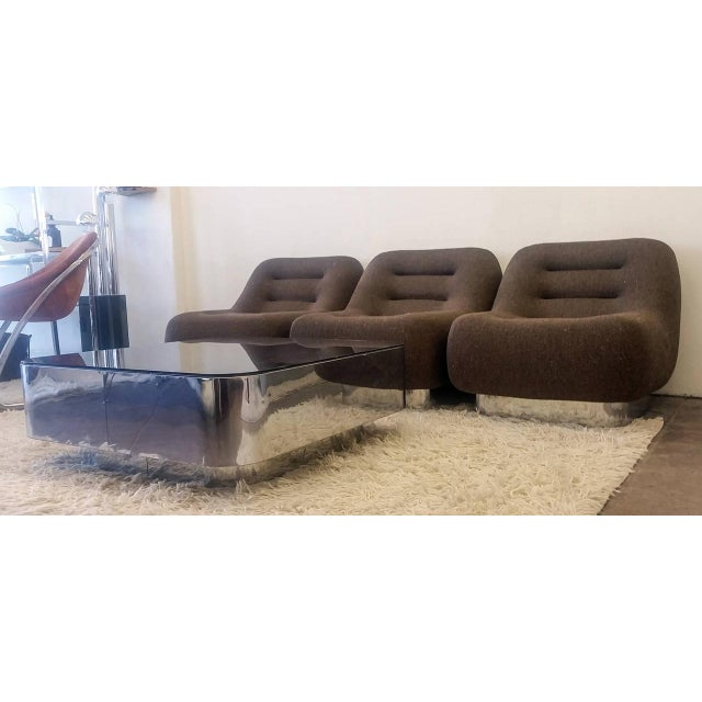 1970s M. F. Harty for Stow Davis Tomorrow Sofa Chairs and Table Suite - Set of 4 For Sale - Image 10 of 11